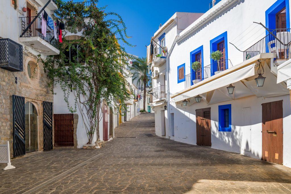 Ibiza Town Cobbled Street