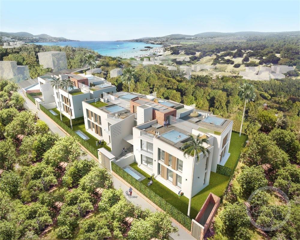 Moderne Wohnungen Projekt in der Natur