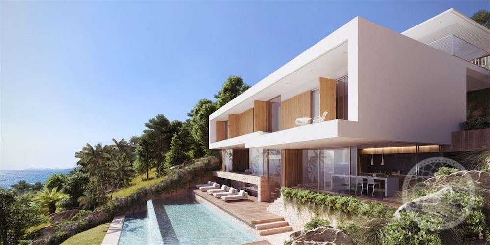 Impressive new villa project on idyllic bay near Es Cubells