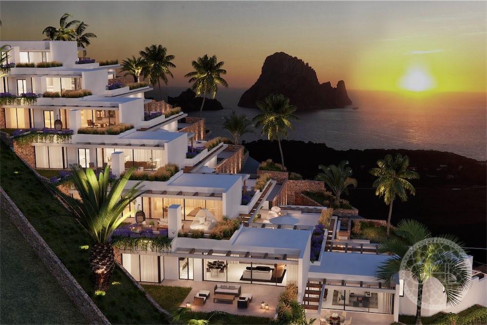 Impresionante villa nueva con impresionantes vistas al mar y a Es Vedrà