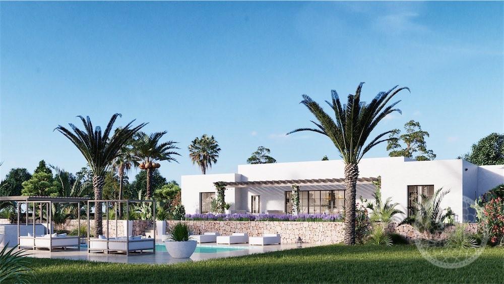 Hermoso proyecto de villa rústica en el campo